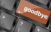 Goodbye Word On Keyboard Key, Notebook Computer Button