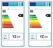 Boiler space heaters new energy rating graph labels