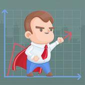 Superhero businessman schedule