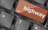 Highway Word On Computer Pc Keyboard Key