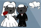 sheep married cartoon background