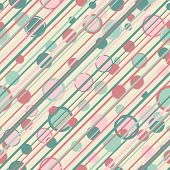 Circles and stripes seamless pattern