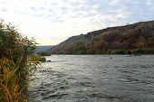 stock photo of water bug  - The Southern Bug River in Ukraine at autumn - JPG