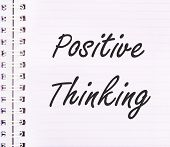 Positive Thinking Concept Text