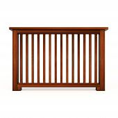 Wooden railing with wooden balusters