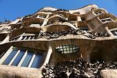 Facade Of Cada Mila Or La Pedrera