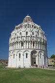 The Baptistery At Square Of Miracles (pisa, Italy)