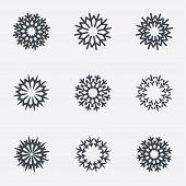 Snowflake artistic sign icon