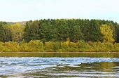 stock photo of kan  - Autumn scenery of the forest and the river Kan - JPG