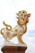 Lion In Buddhist Religion Have Naga  In Mouth