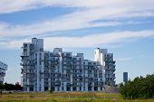 modern buildings in Oerestad district, Copenhagen