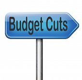 budget cuts reduce costs and cut spendings during crisis or economic recession