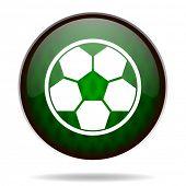soccer green internet icon