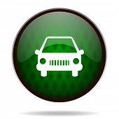 car green internet icon