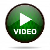 video green internet icon
