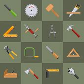 Carpentry tools icons