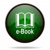 book green internet icon