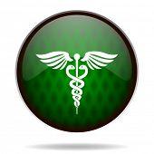 emergency green internet icon