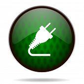 plug green internet icon
