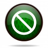 access denied green internet icon