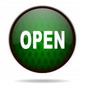 open green internet icon