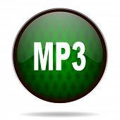 mp3 green internet icon