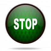 stop green internet icon