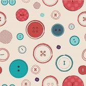 retro Vector seamless pattern. Bright colors buttons on dark background. Ideal for textile, wallpape