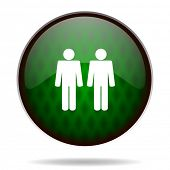 couple green internet icon