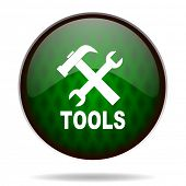 tools green internet icon