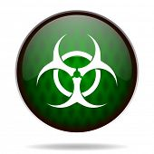 biohazard green internet icon