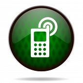 phone green internet icon