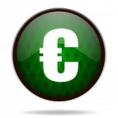 euro green internet icon