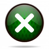 cancel green internet icon