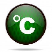 celsius green internet icon