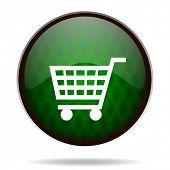 cart green internet icon