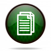 document green internet icon