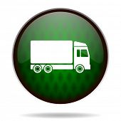 delivery green internet icon