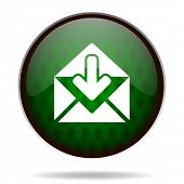 email green internet icon