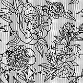 Vector flower lace pattern.