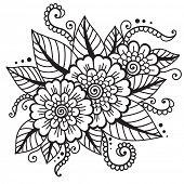 Flower vector ornament.
