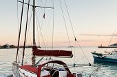 Yachts And Black Sea In Warm Evening, Yalta