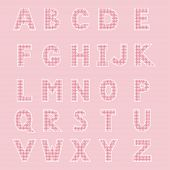 Alphabet made from patch