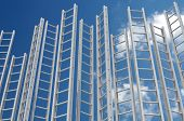 stock photo of step-ladder  - Corporate Ladders - JPG