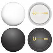 Vector illustration of blank badges mock-up