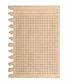 Kraft Paper Page Notebook. Textured Isolated On The White Backgrounds
