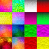 Set of 32 Abstract Geometric Backgrounds.