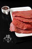 Raw Beef Tenderloin, Salt And Pepper