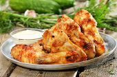 Fried Chicken Wings With Sauce