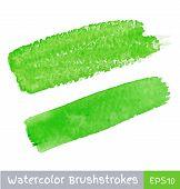 Green Watercolor Brush Strokes